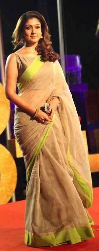 A stunning sari worn by the gorgeous Nayanthara!
