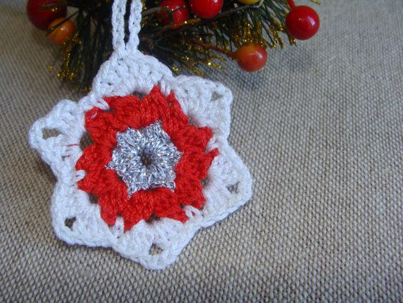 Christmas Decorations Star PATTERN, Crochet Christmas Star, Christmas Ornament, Christmas Home Decor, Christmas Tree Decor