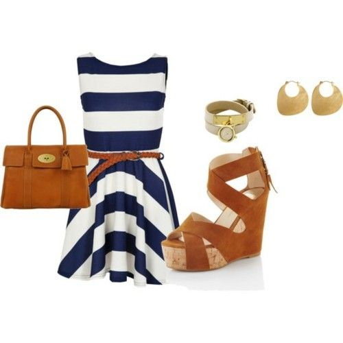 """Sooo """"me"""": Summer Dresses, Navy And White, Marilyn Monroe, Navy Stripes, Cute Dresses, Cute Outfits, Summer Outfits, The Dresses, Blue And White"""