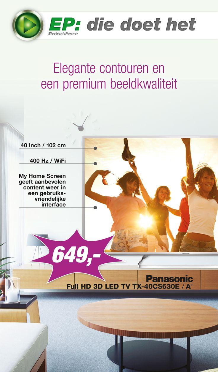 Week 33 van onze spectaculaire E-Poster is online! Met in de actie van deze week: Panasonic Full HD 3D LED TV TX-40CS630E! (1/2)