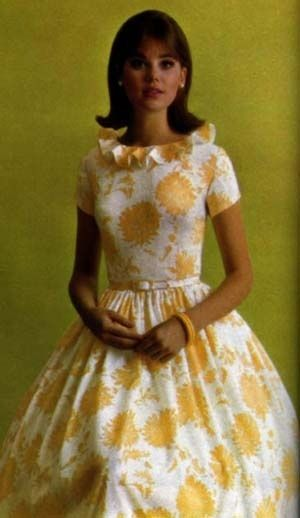 colleen corby | Colleen Corby in a Seventeen magazine ad. Adorable yellow & white ...
