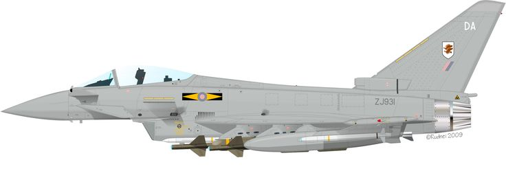 ZJ931 Typhoon GR4, 11 Squadron RAF by Rudnei