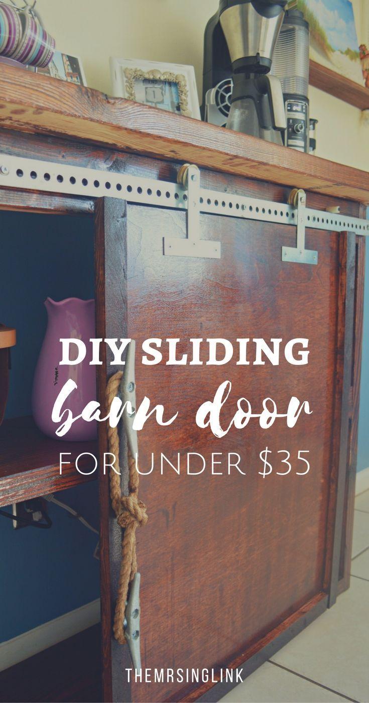 Diy Sliding Barn Door For Under 35 Craft Ideas Pinterest Diy