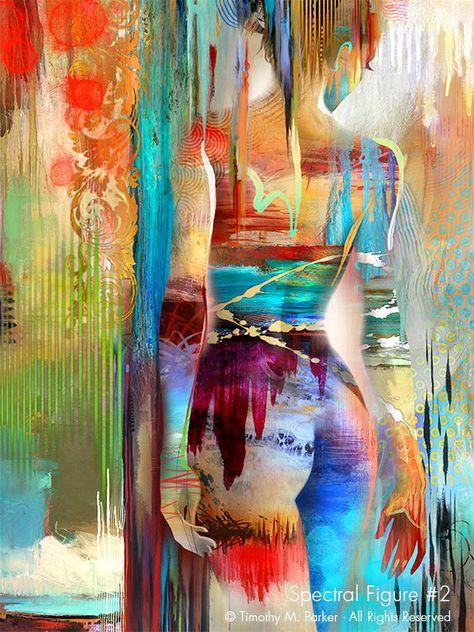 Spectral Figure #2 • Abstract Figurative Fine Art Print