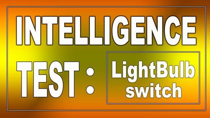 Intelligence Test: LightBulb Switches