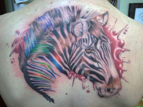 awesome+animal+print | Amazing Zebra Print Tattoos Ideas and Designs