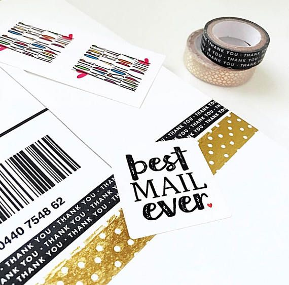 Happy mail stickers for small business shipping stickers 24 stickers per page 1 5 inch stickers bme1