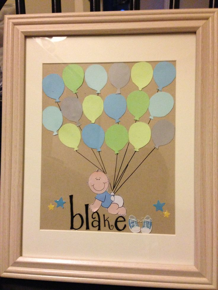 I made this for the guest sign in book for my best friends baby shower.... Sign in the balloon or around the boarder :)