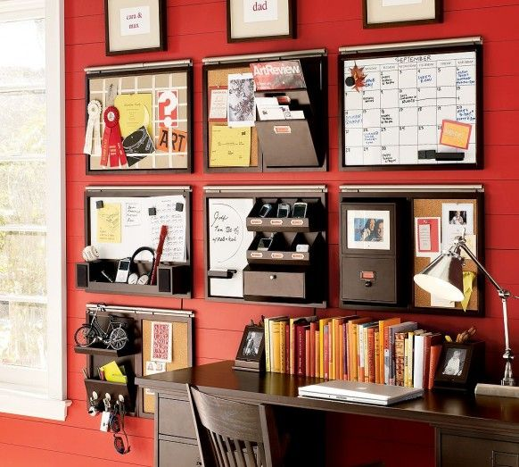 I've seen this layout, but love the red behind it!