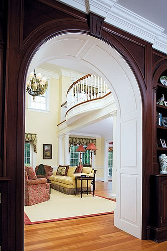 Extraordinary detailing with arched doorway