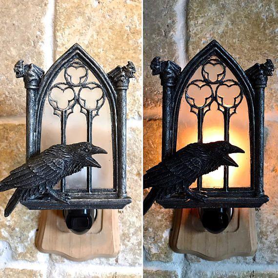 Raven and Window Nightlight