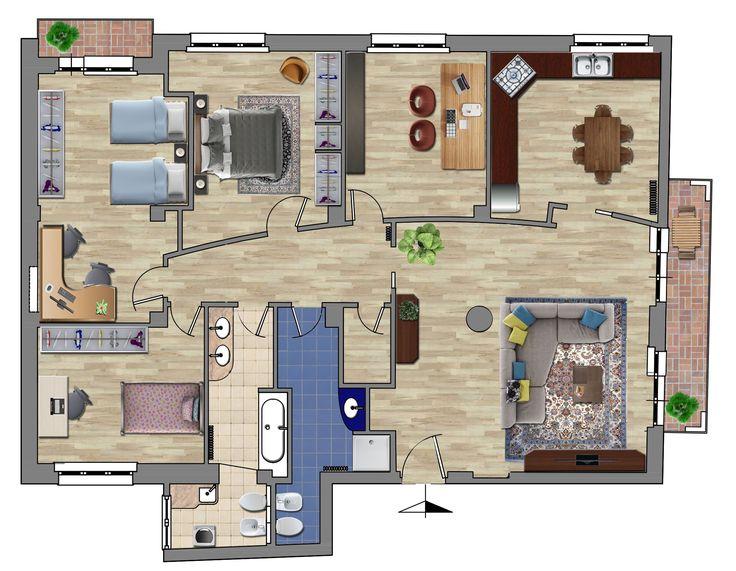 Oltre 25 fantastiche idee su planimetrie dell 39 appartamento for Planimetrie di case di piccoli laghi