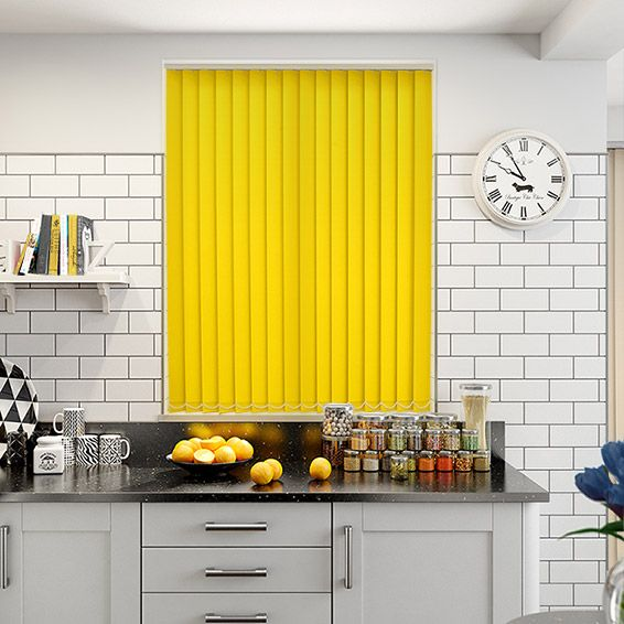 What A Bright And Colourful Tone This Valencia Neon Yellow Blind Has. Just