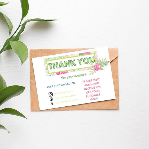 Thank You Business Card For