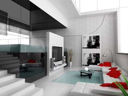 Modern Home Interior Design.  What do you think?  What color accent would you choose?