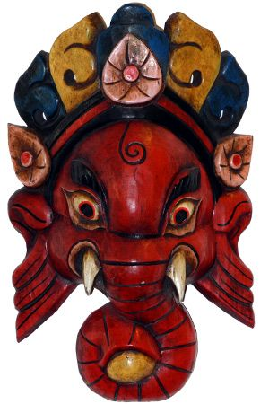 SOLD Red Lord Ganesha Tibetan Mask 14