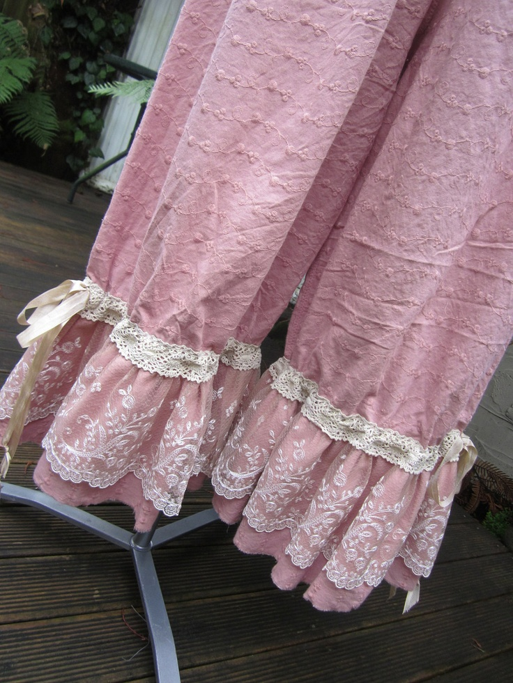 Bloomers. Cut off and add lace to pajama pants