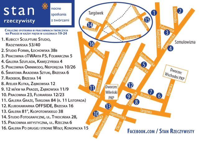 STAN RZECZYWISTY - nocne spotkania z twórcami na warszawskiej Pradze Północ w Noc Muzeów http://artimperium.pl/wiadomosci/pokaz/292,noc-muzeow-w-warszawie-stan-rzeczywisty-pracownie-na-pradze#.U3J25_l_uSp