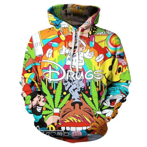 3D Print Men Hoodie Sweater Sweatshirt Cartoon Super Mario Jacket Pullover Tops
