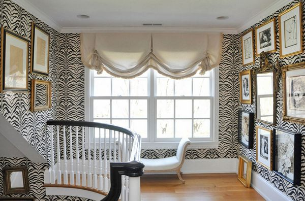 40 best sawn baluster designs images on pinterest porch for Animal print window treatments