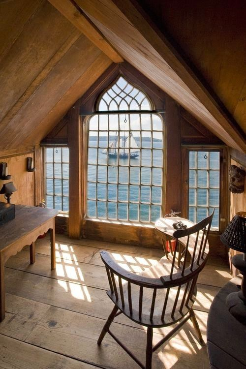 A House Romance: Beach House - Attic with a Cape Cod view
