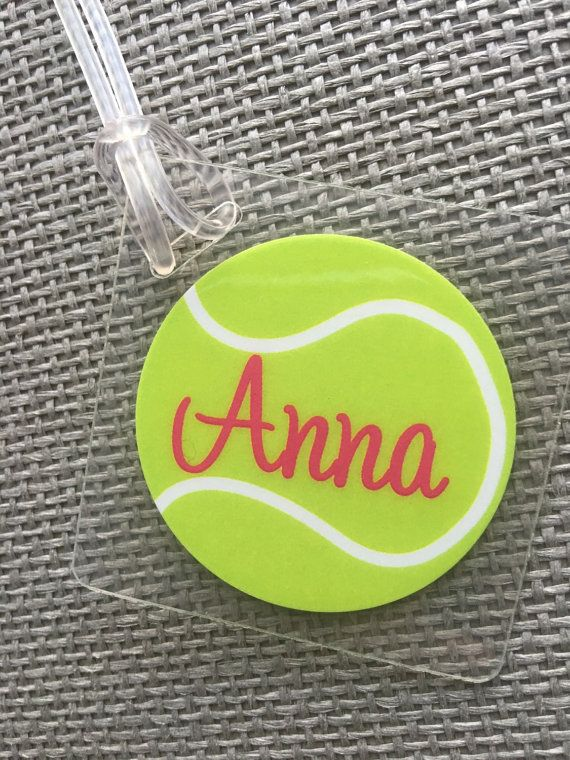 Tennis Bag Tag Sport Bag Tag Tennis Party Favor by Toddletags