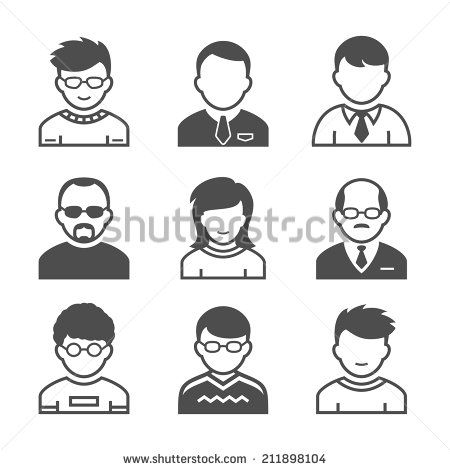 Users Avatars. Occupation And People Icons. Vector Illustration. Simplus Series - 211898104 : Shutterstock