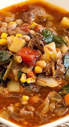 Soup Recipe   Hearty Beef Vegetable Soup