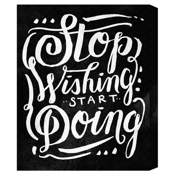 Start Doing Noir Canvas Print, Oliver Gal