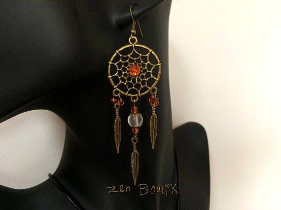 Boucles d'oreilles Zen Dreamcatcher Attrape Rêve