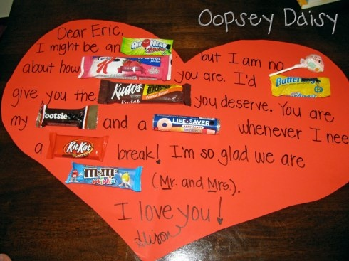 Valentine's Day candy gram