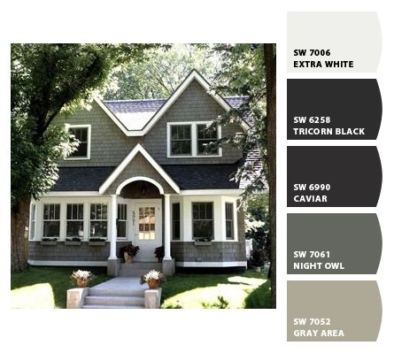 Exterior Paint colors from Chip It! by Sherwin-Williams I love these colors! Man who knew that picking an exterior house color would be so hard?!