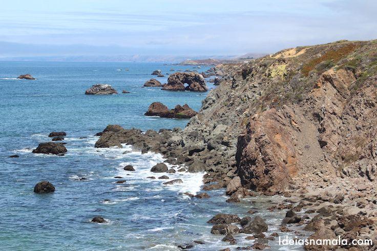 Califórnia:+Costa+norte+da+Califórnia+de+carro