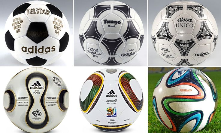 A history of 12 balls used at the FIFA World Cup