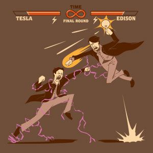 The educational video game version of the Current Wars - Tesla vs.