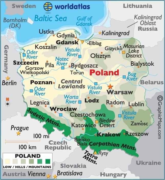 Polska - Map of Poland - carte de la Pologne