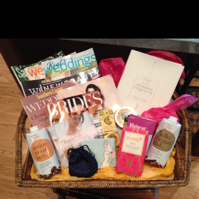 Yay! Engagement Basket for a girlfriend
