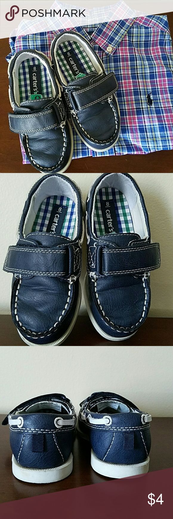 Carters Navy Blue Loafers Sweet boat shoes all ready to be worn this summer! They are nice because they are just enough to look casual but not too casual. *shirt not included* Carter's Shoes Dress Shoes