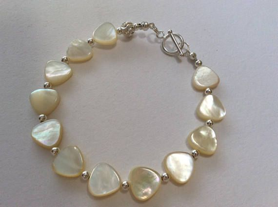 Mother of Pearl and Sterling Silver Luxury Bracelet