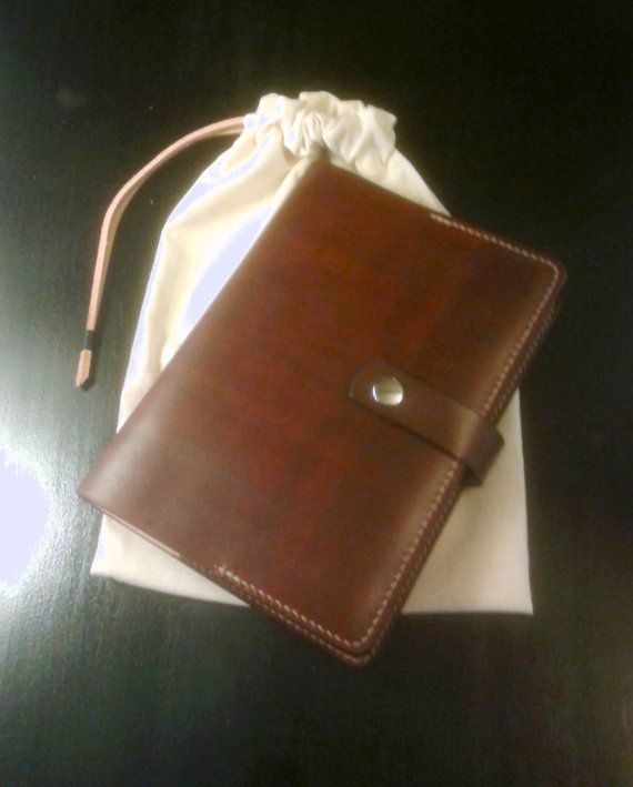 Molesine Cover Leather Notebook Personalized by DesignedByCris