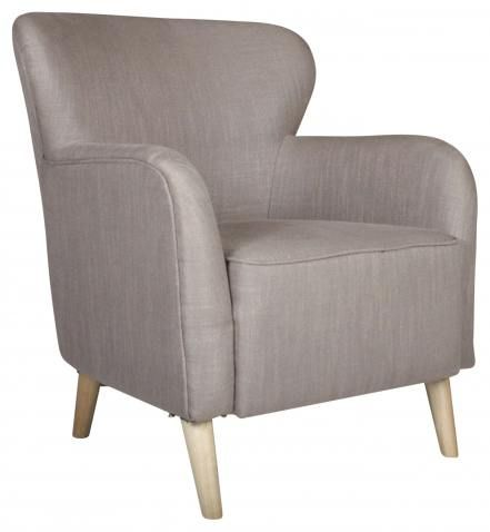 Block & Chisel taupe houndstooth armchair