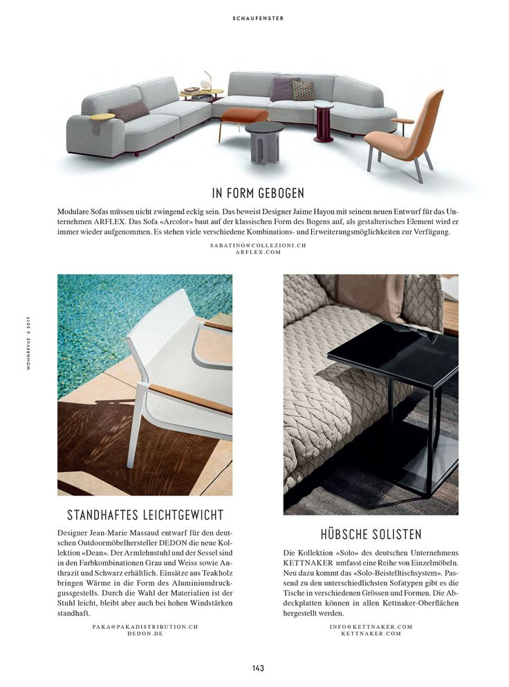 Arflex   Wohnrevue Magazine Choose The Arcolor Sofa And Leafo Armchair Design  Jaime Hayon #arflex