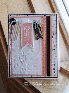 Stamps: Perfect Pennants Inks: Crisp Cantaloupe Papers: Whisper White, Crisp Cantaloupe, Basic Black, Sweet Sorbet DSP, Silver Glimmer Paper...