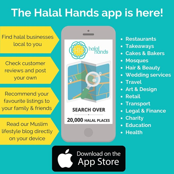 Download the Halal Hands app now for free from the Appstore - connecting British Muslims with halal businesses