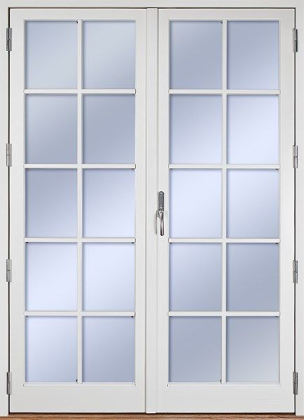Ekstrands utåtgående parfönsterdörr Sverige104, Tillval: Spröjs SP4:1.  #Ekstrands #fönsterdörr #altandörr #fönster #dörr #isoleradfyllning #spröjs