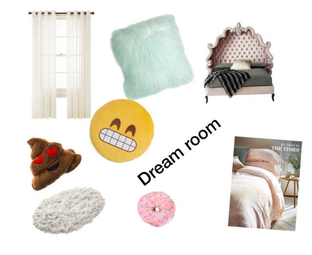 """""""Dream room"""" by fabbelfashion11 ❤ liked on Polyvore featuring interior, interiors, interior design, home, home decor, interior decorating, Royal Velvet, Haute House, Pillow Decor and Throwboy"""