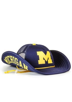 Cowbucker Michigan Wolverines Blue-Out Mesh Bucker Hat - Blue - One Size