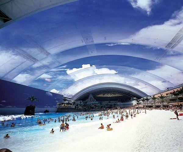World's largest indoor pool. Amazing!Swimming Pools, Japan, Amazing Pools, The Ocean, Ocean Dome, Strange Places, Water Parks, Indoor Beach, Miyazaki