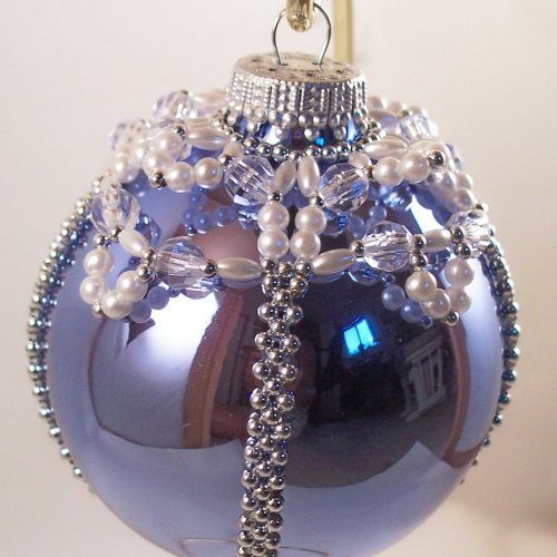 Elegant Christmas Ornament Pattern, Beading Tutorial In