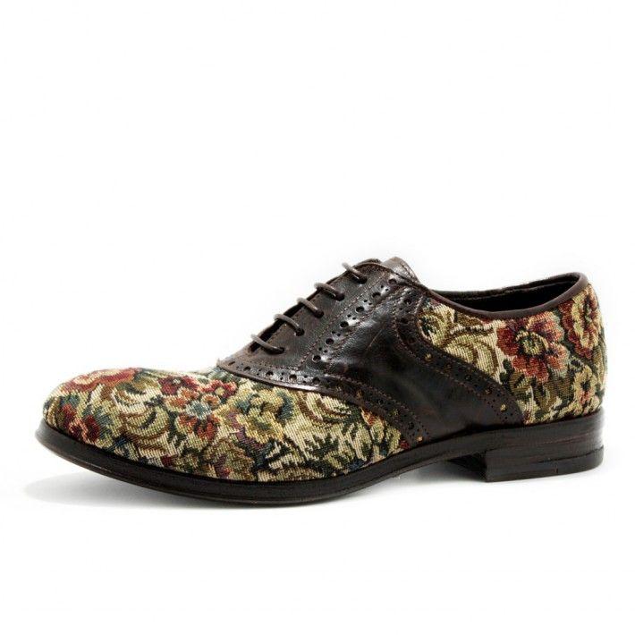 Art. 13/813, Bassa in Tela di colore Espana fodera in Vitello e fondo in Cuoio #Mauron1959 #Italy #shoe #woman #style #fashion #luxury